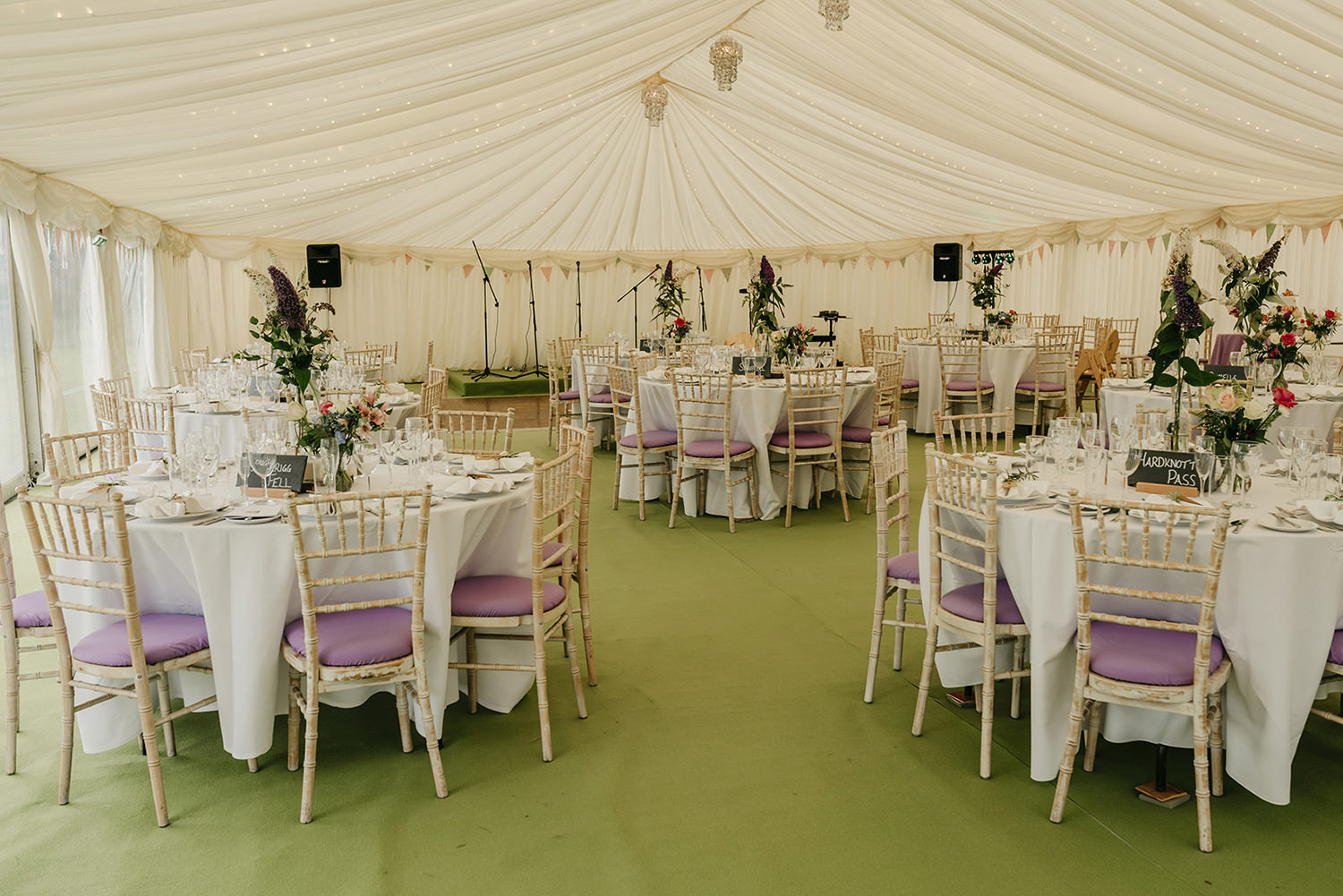 Marquee was provided by A3 Marquees