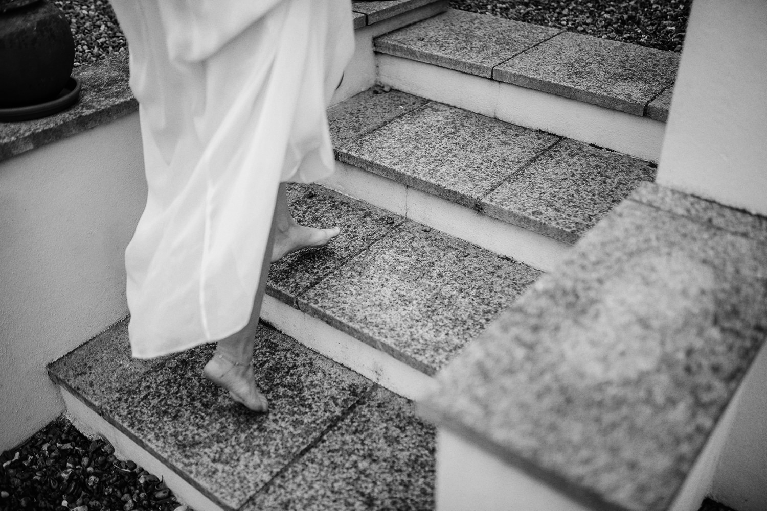 The best way to be on your wedding day is barefoot