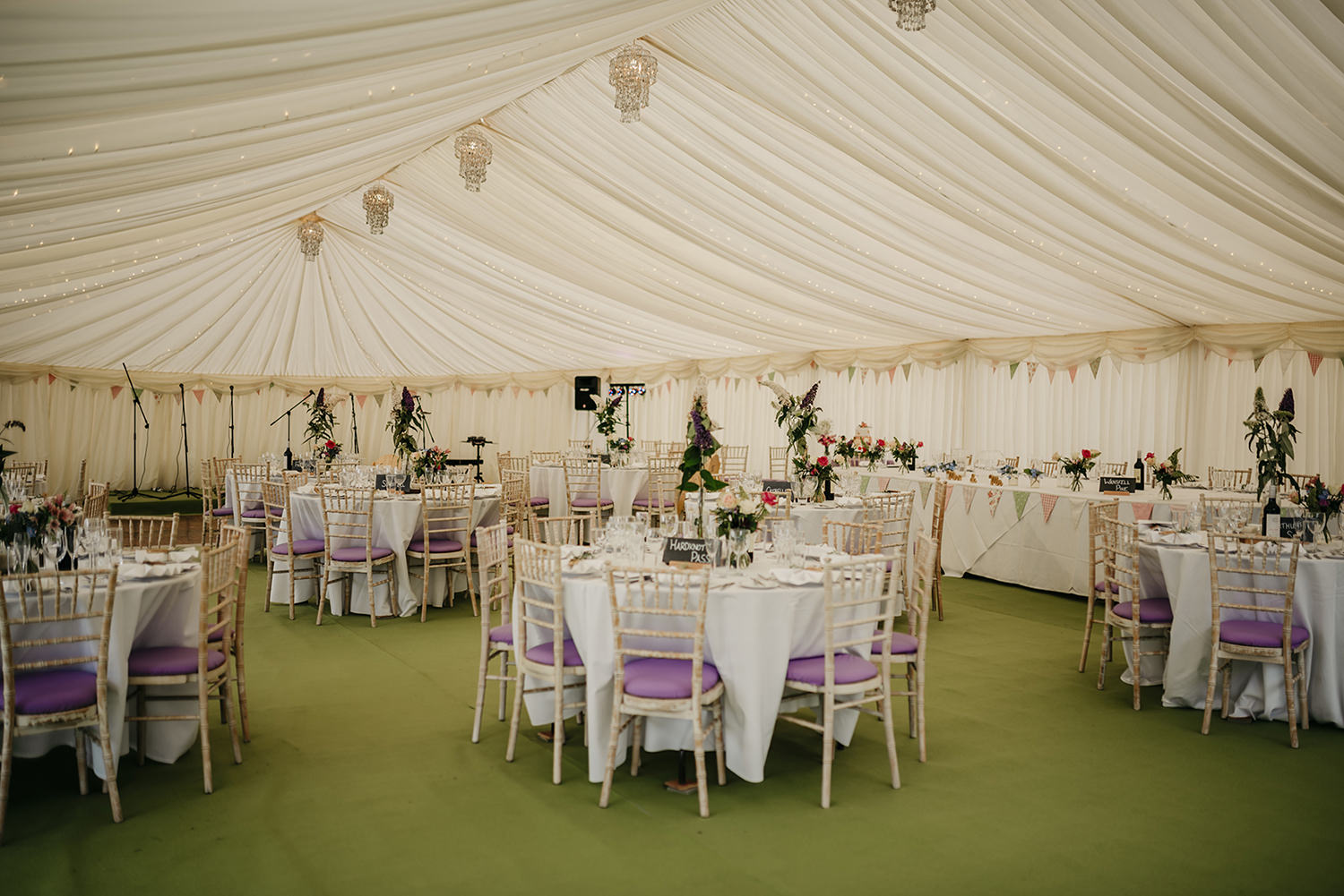 Wedding reception marquee provided by A3 Marquees