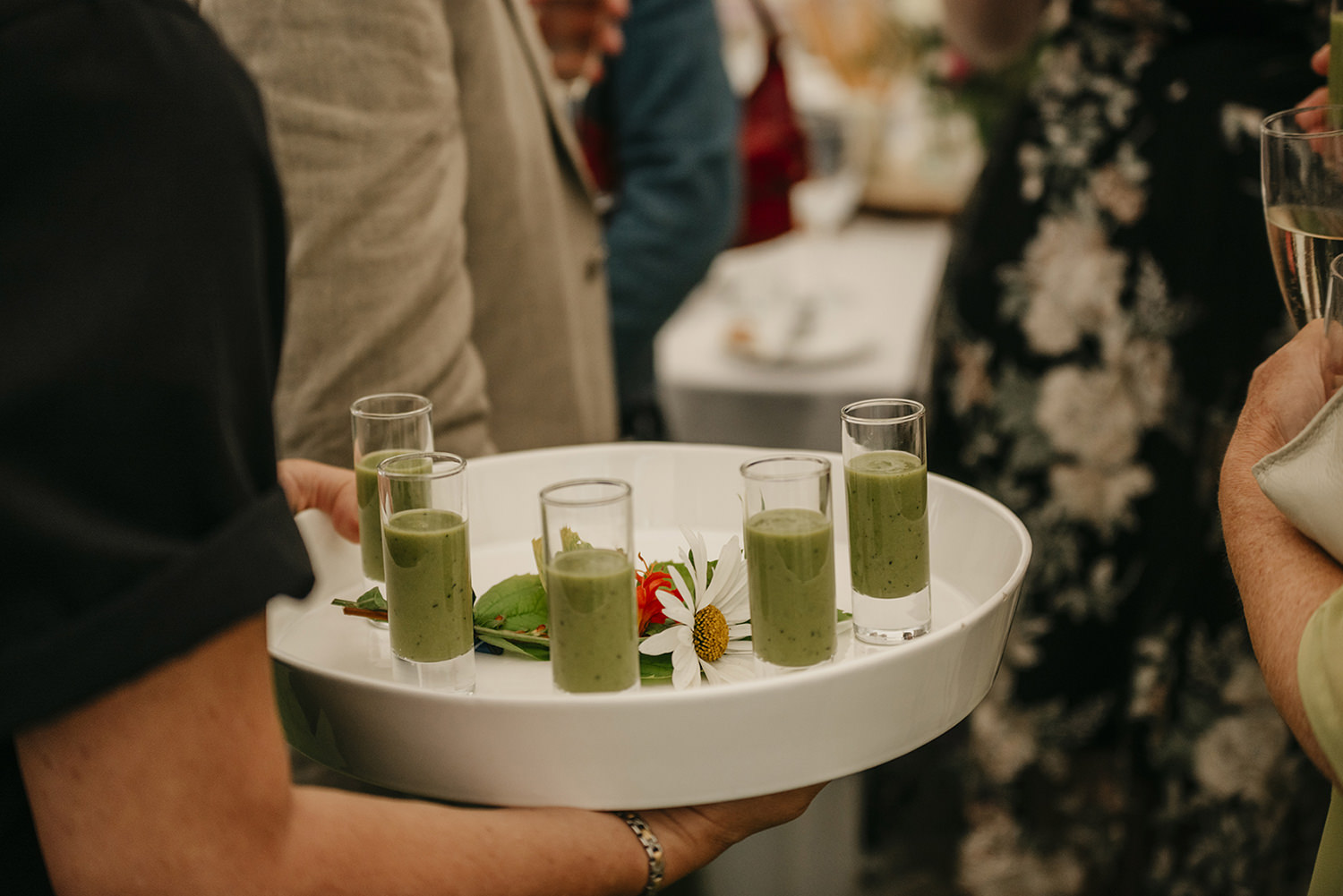 Pea shots by Taste Catering