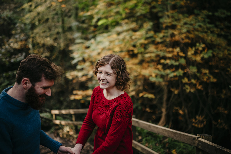 Glen Maye autumn engagement photoshoot on Isle of Man