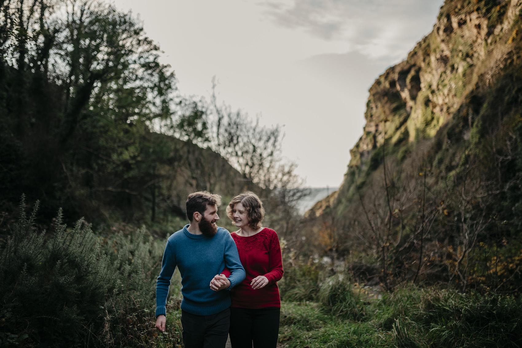 Glen Maye glen engagement photoshoot on Isle of Man