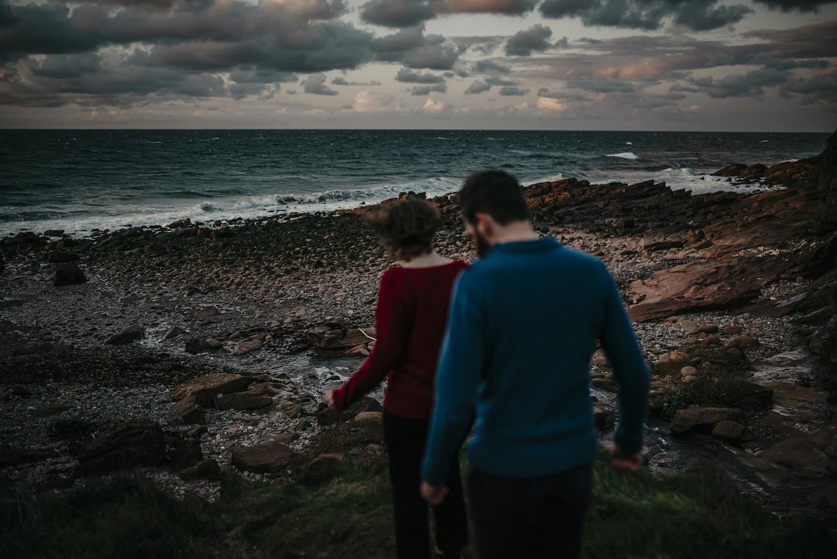 sunset engagement photoshoot on Isle of Man