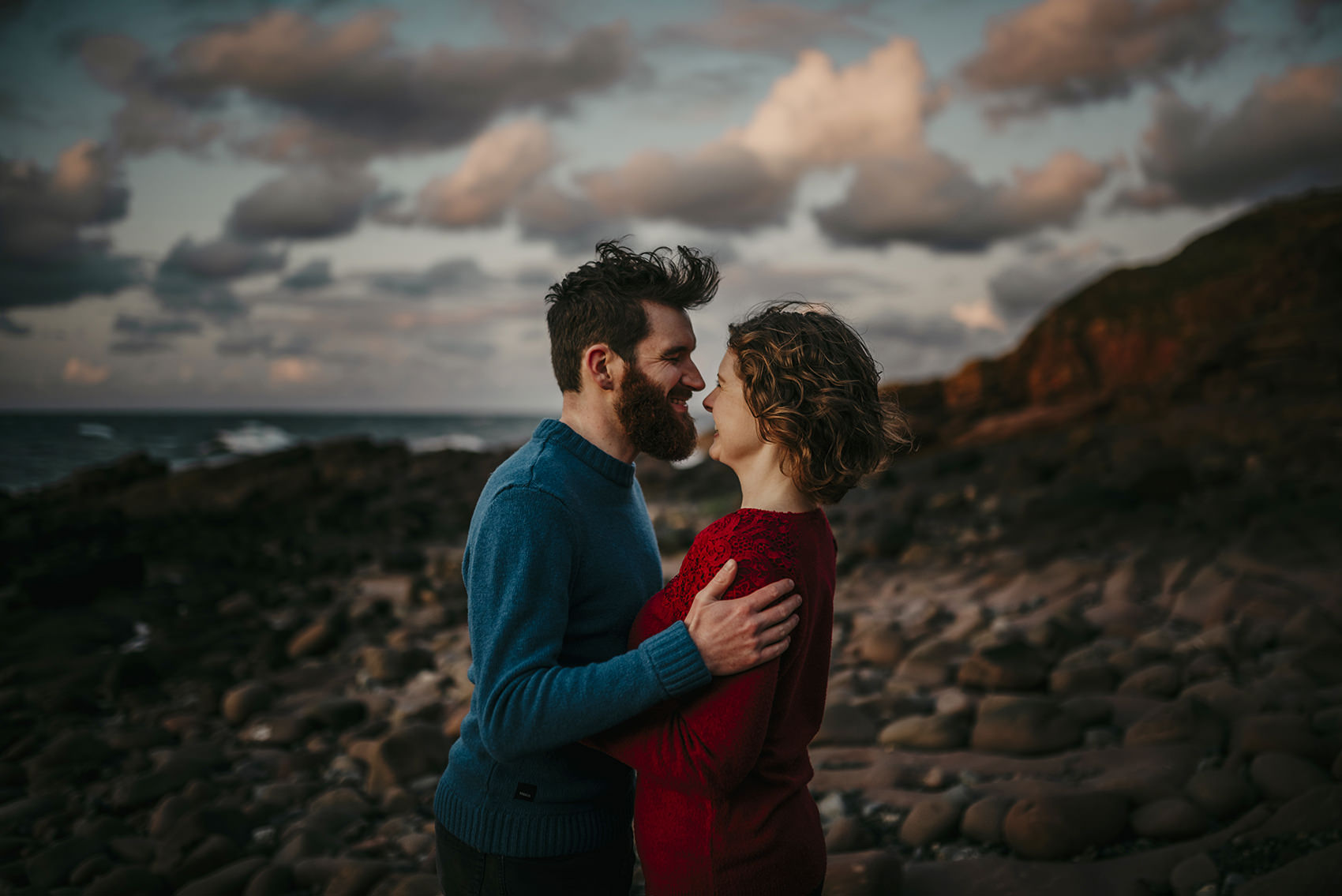 fun engagement photoshoot on Isle of Man