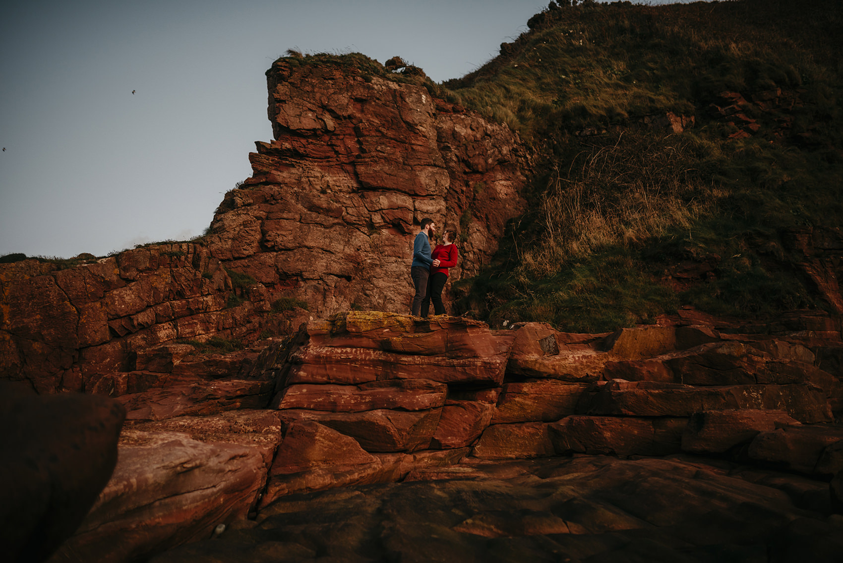 A couple with cliffs