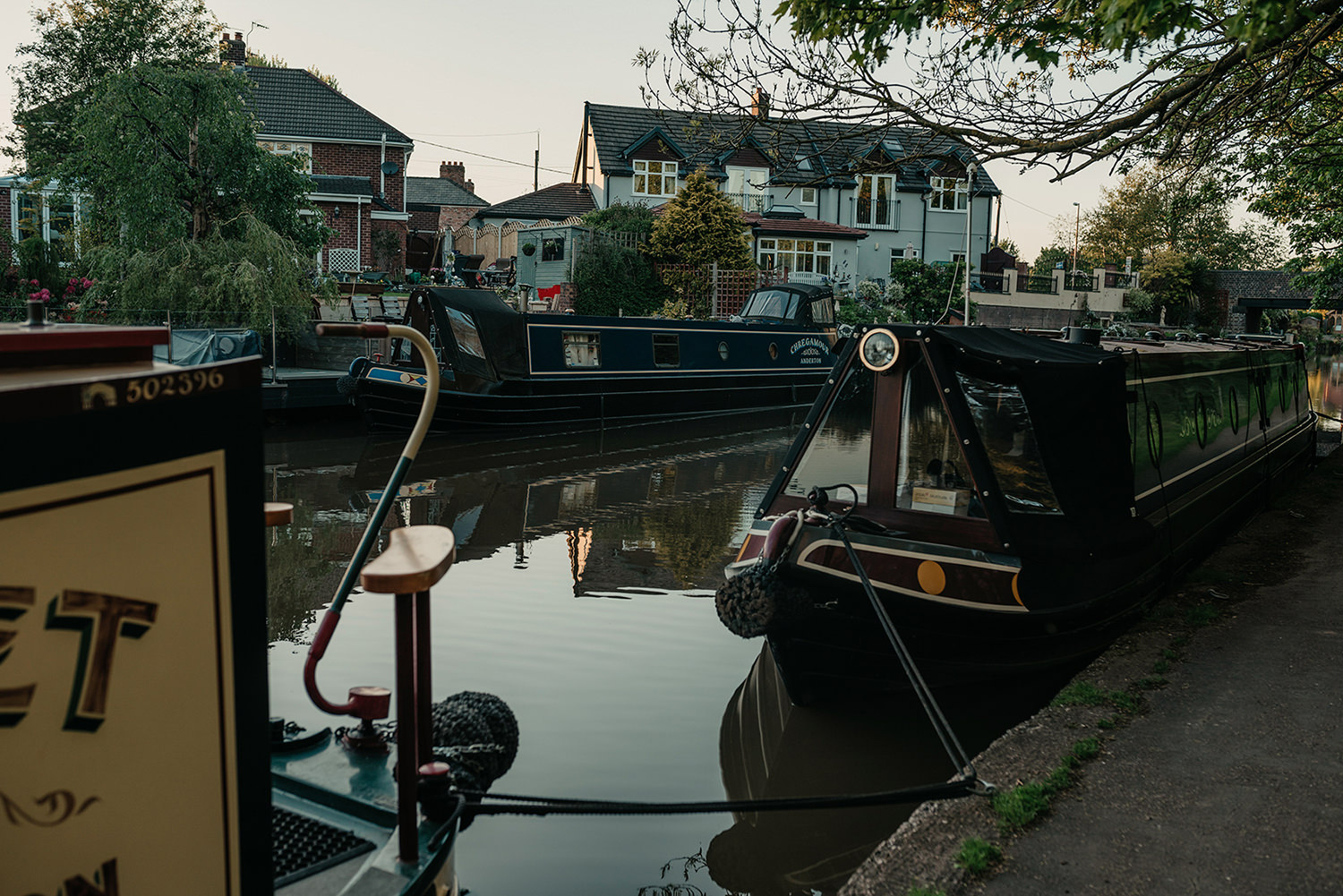 A pretty canal in Northwich, Cheshire
