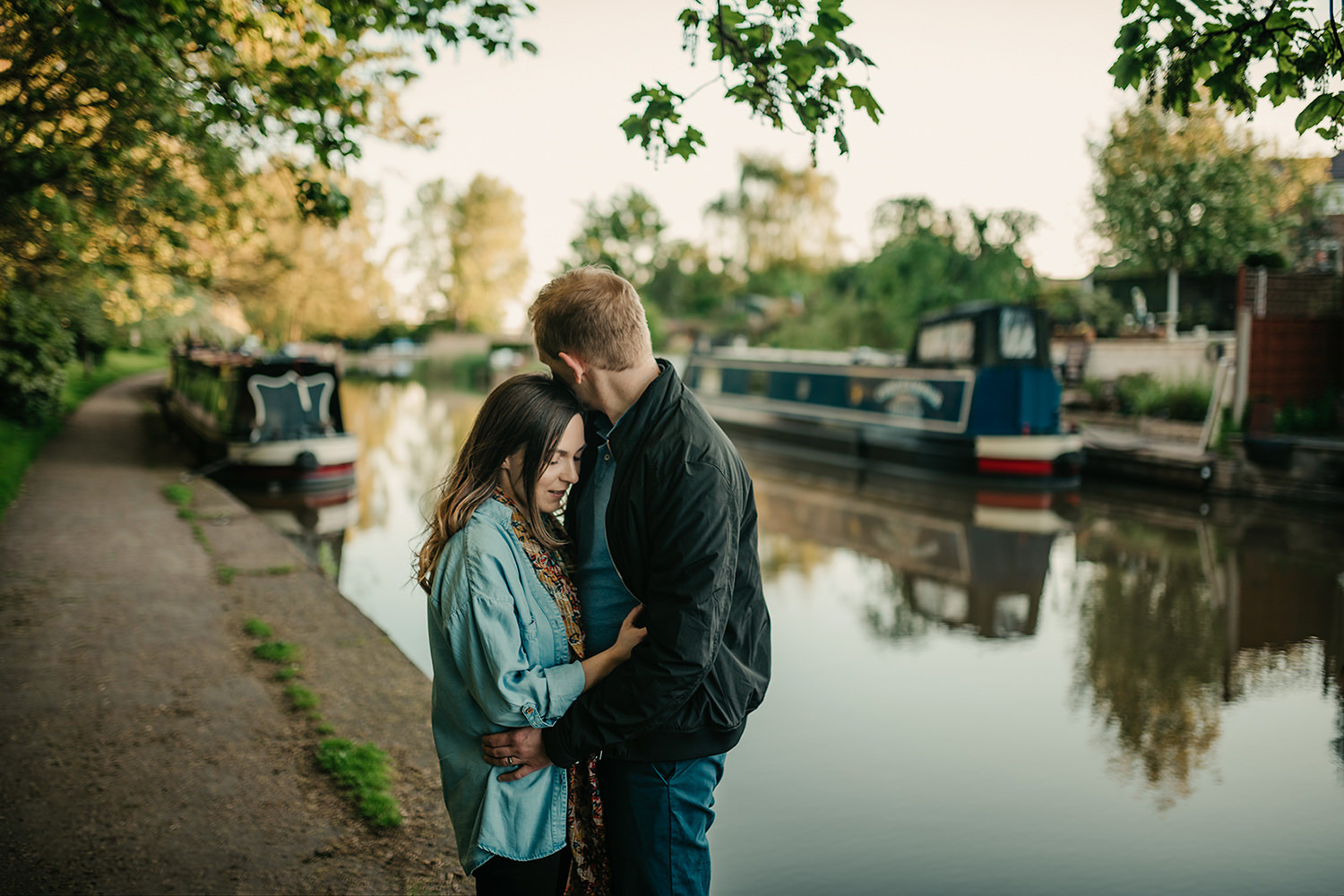 Engagement photo by one of Cheshire's canals in Northwich