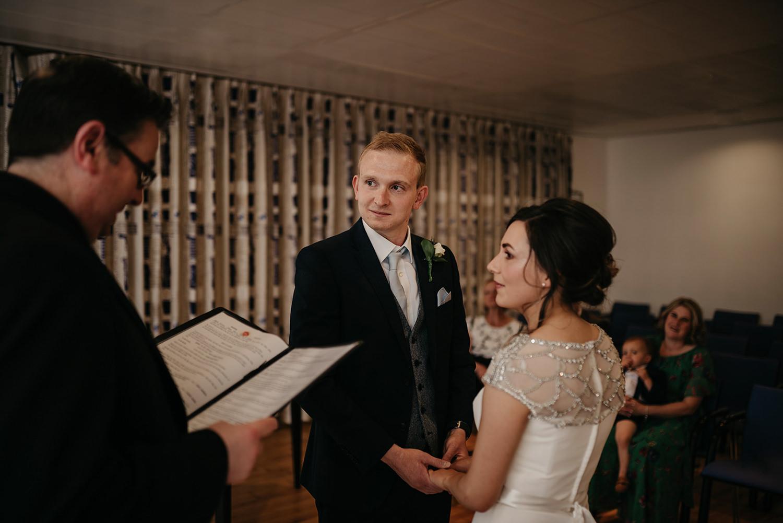 Isle of Man elopement ceremony at Douglas Registry Office