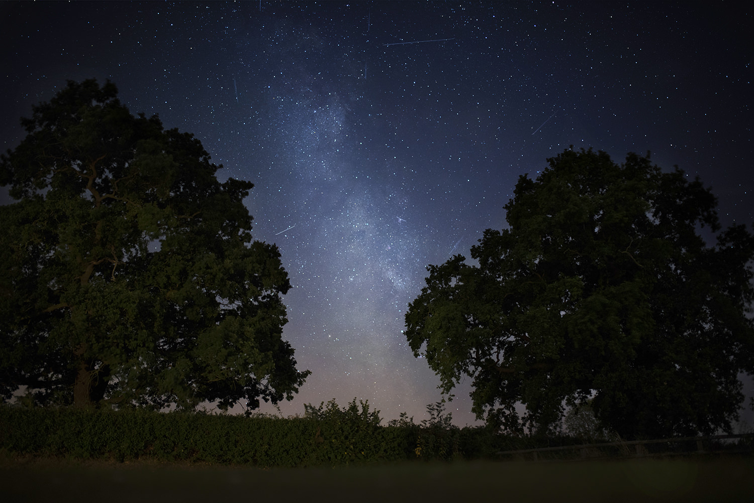 The Milky Way and meteorite showers in Cheshire