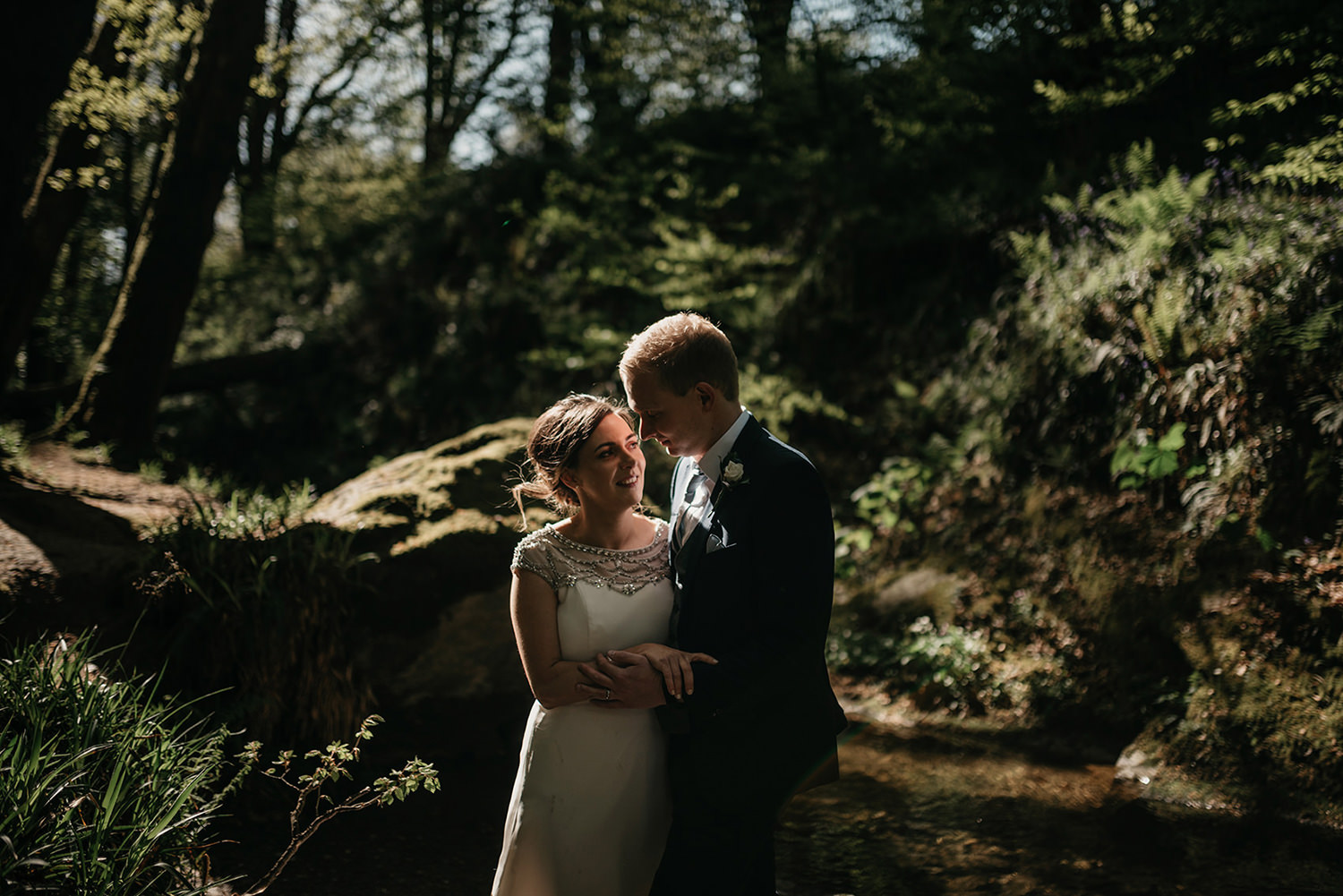 Isle of Man elopement photoshoot in Groudle Glen
