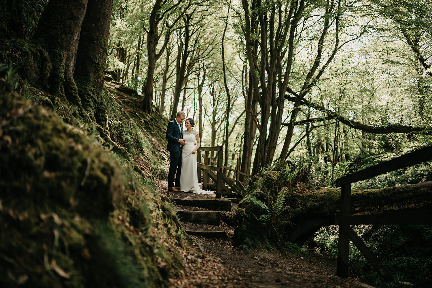 They asked me to find a leafy forest location nearby Douglas Registry Office for their photos.