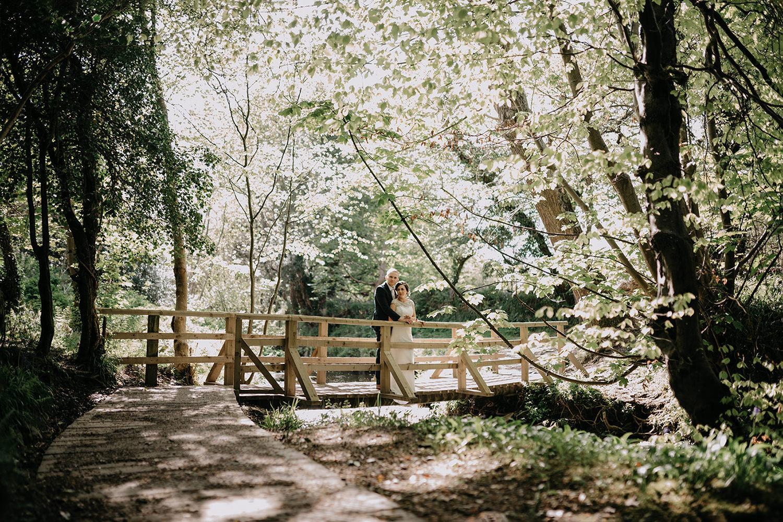 Groudle Glen is beautiful for wedding photos