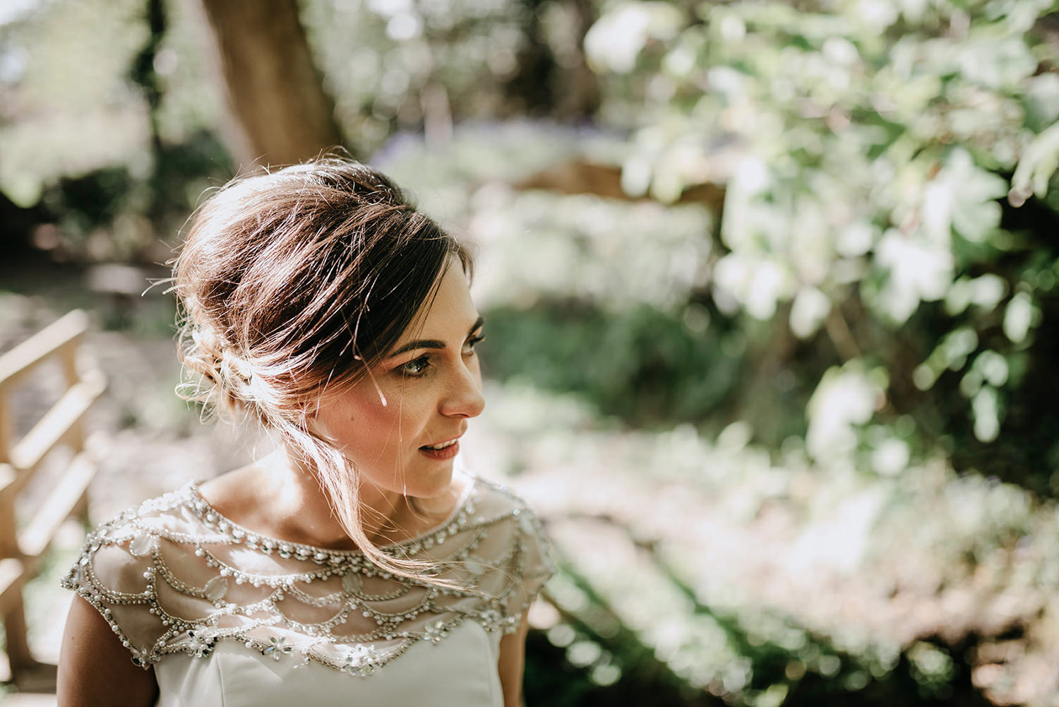 Bride Louise on her Isle of Man elopement