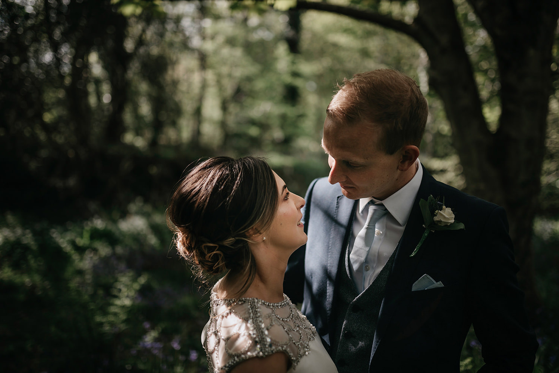 Wedding photoshoot in bluebells