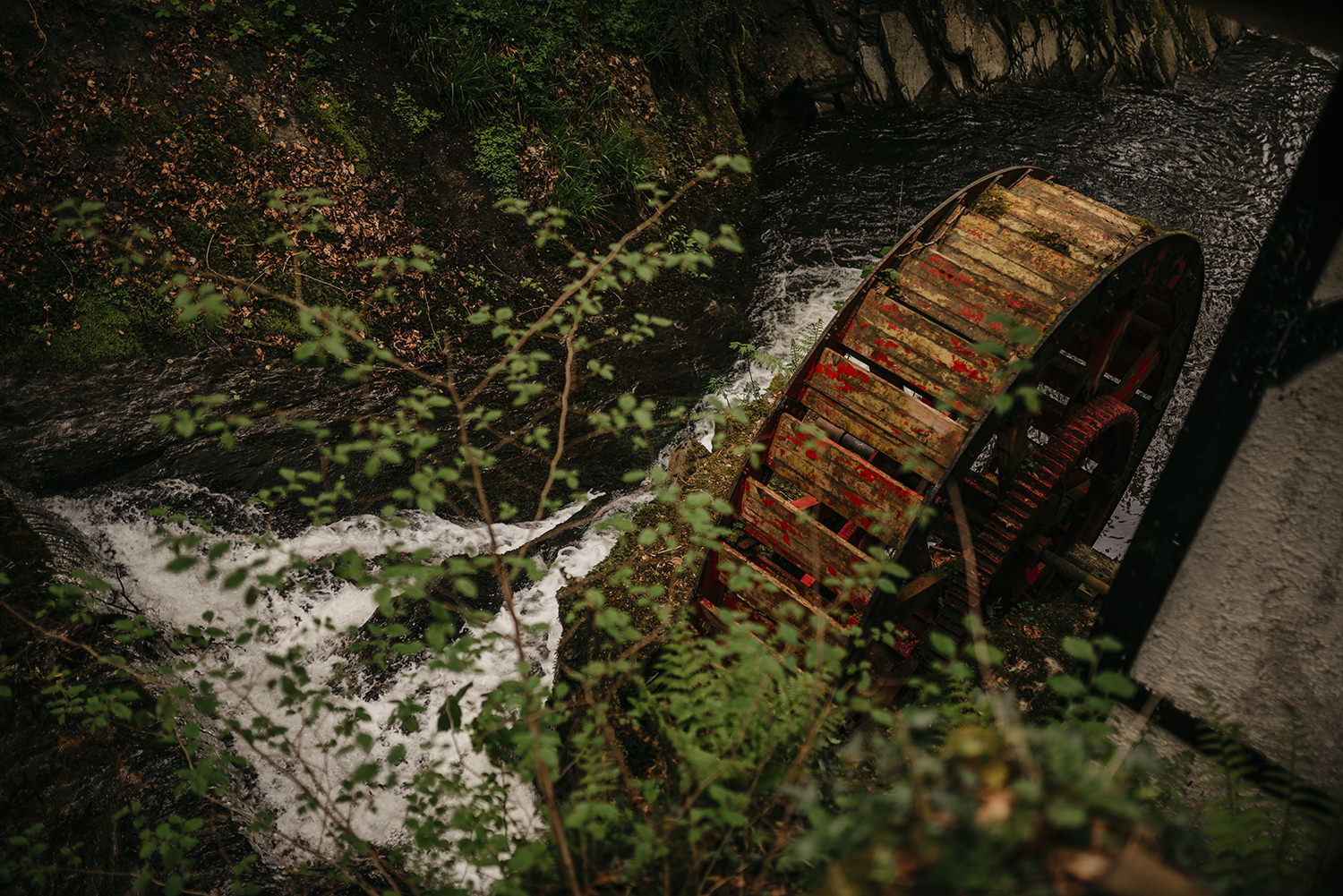 Groudle Glen waterwheel, Isle of Man