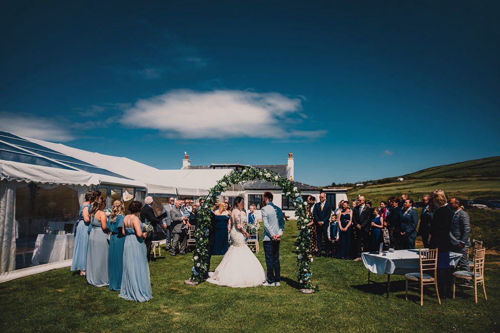 Wedding ceremony at the Niarbyl