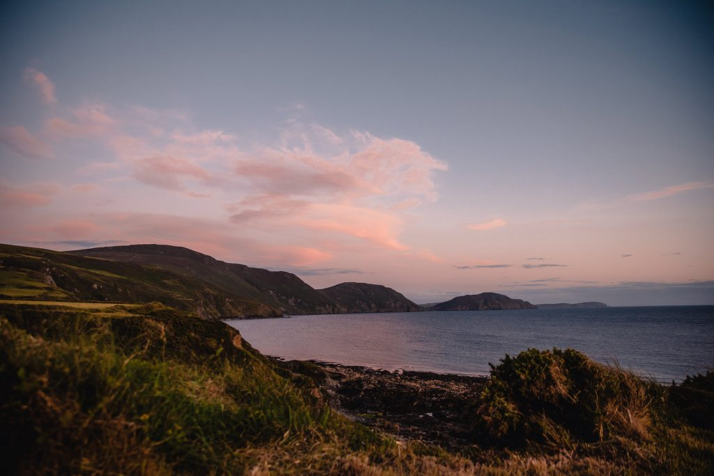 A view of Niarbyl at sunset
