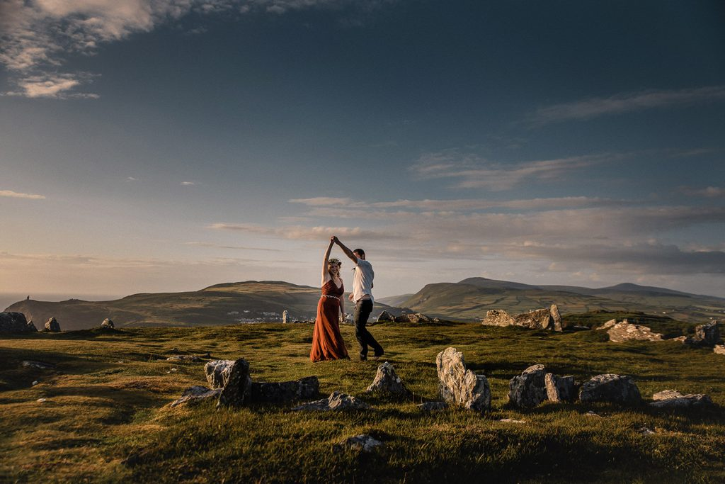 Summer solstice handfasting on Mull Hill, Isle of Man