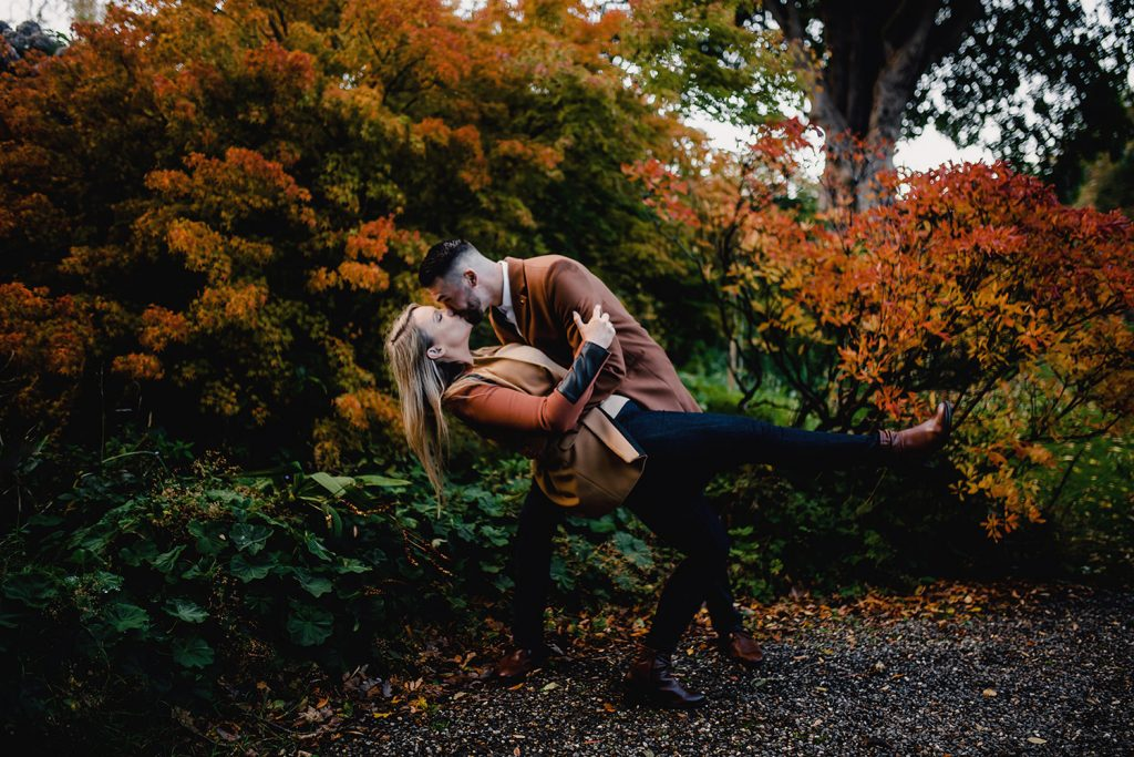 Couple's photoshoot at Milntown gardens, Ramsey