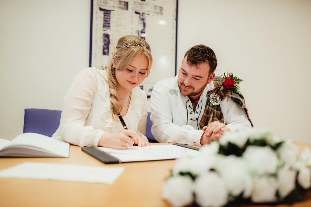 Wedding at Douglas Registry office