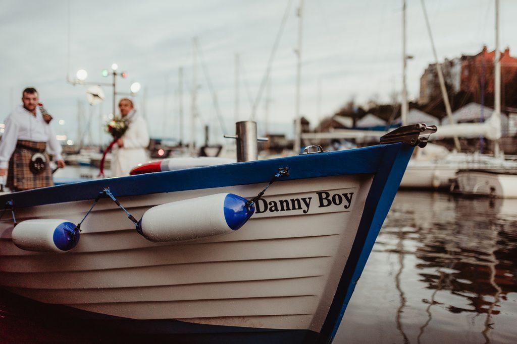 Danny Boy boat with newlyweds