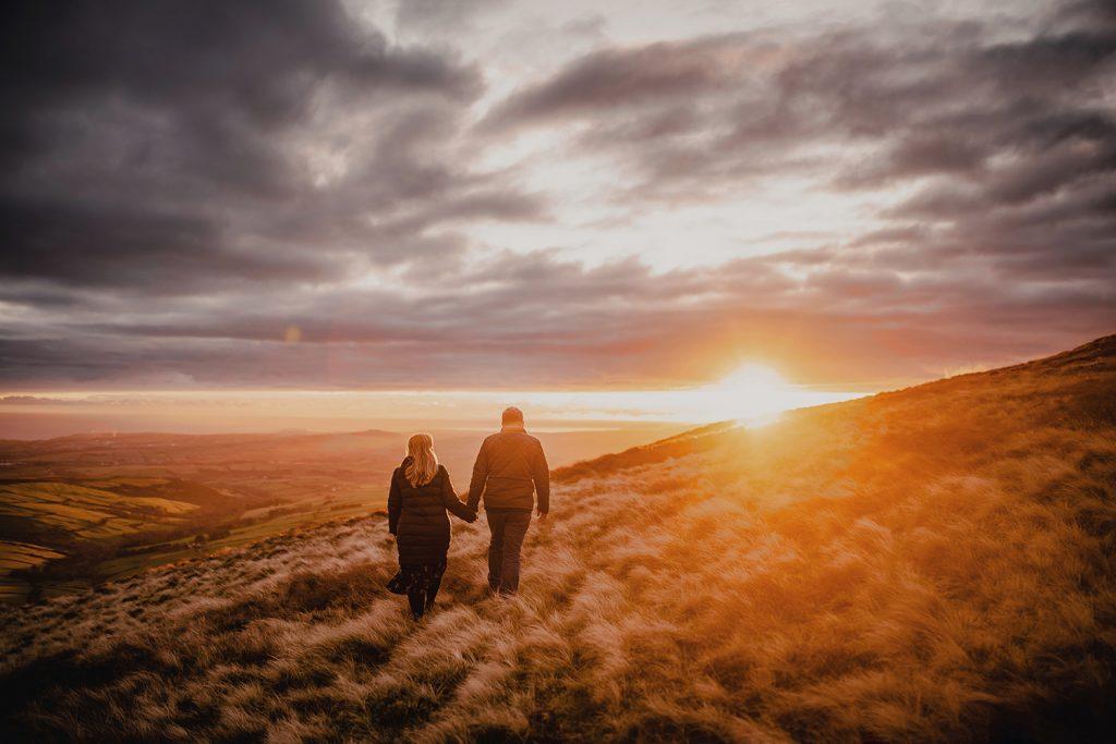 Engagement photo at sunset