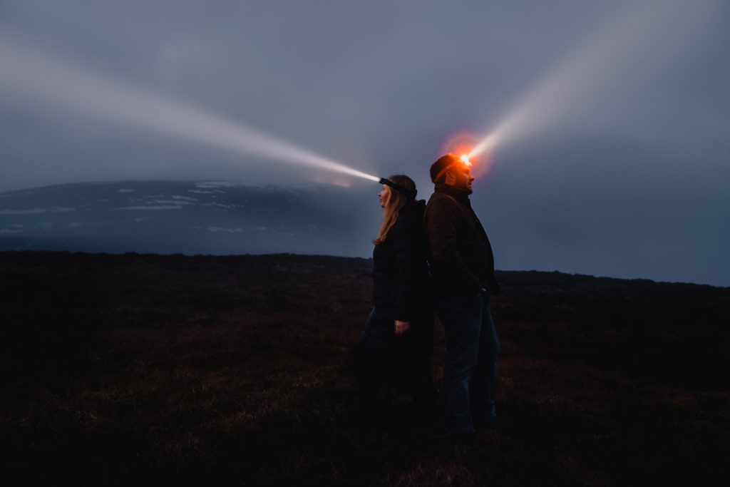 Engagement photo at Snaefell