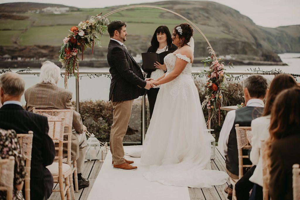 Outdoor Bradda Head wedding ceremony