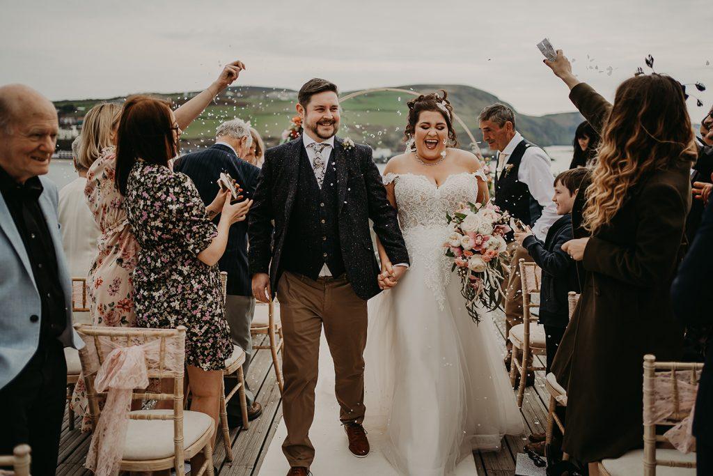 Outdoor Bradda Head wedding confetti toss
