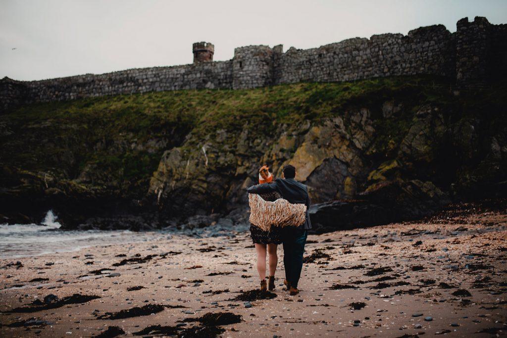 Peel castle engagement photoshoot