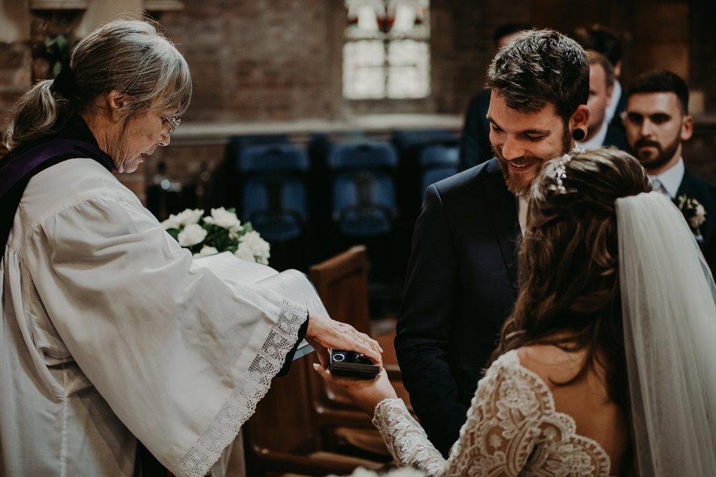 Kirk Braddan church wedding